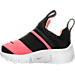 Left view of Girls' Toddler Nike Presto Extreme Running Shoes in Black/Lava Glow/White