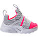 Right view of Girls' Toddler Nike Presto Extreme Running Shoes in Racer Pink/Pure Platinum/White/Black