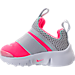 Left view of Girls' Toddler Nike Presto Extreme Running Shoes in Racer Pink/Pure Platinum/White/Black