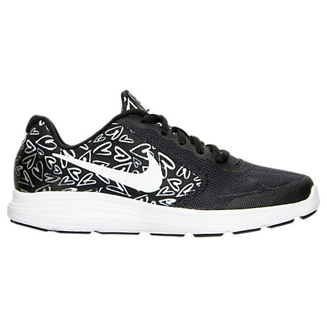 Girls' Grade School Nike Revolution 3 Print Running Shoes