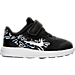 Right view of Girls' Toddler Nike Revolution 3 Print Running Shoes in Black/Lava Glow/White