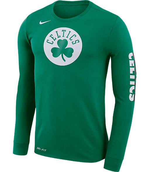 Men's Nike Boston Celtics NBA Logo Long-Sleeve T-Shirt