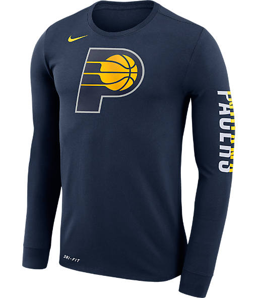 Men's Nike Indiana Pacers NBA Logo Long-Sleeve T-Shirt