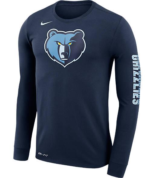 Men's Nike Memphis Grizzlies NBA Logo Long-Sleeve T-Shirt