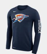 Men's Nike Oklahoma City Thunder NBA Logo Long-Sleeve T-Shirt