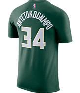 Men's Nike Milwaukee Bucks NBA Giannis Antetokounmpo Name and Number T-Shirt