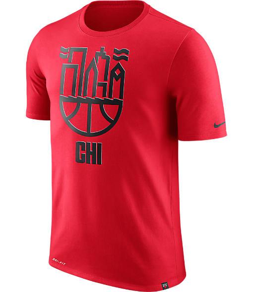 Men's Nike Chicago Bulls NBA Dry Cityscape T-Shirt