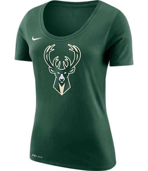Women's Nike Milwaukee Bucks NBA Dry Logo T-Shirt