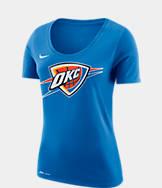Women's Nike Oklahoma City Thunder NBA Dry Logo T-Shirt