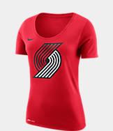 Women's Nike Portland Trail Blazers NBA Dry Logo T-Shirt