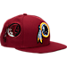 Front view of New Era Washington Redskins NFL Fresh Side Snapback Hat in Team Colors