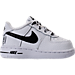 Right view of Boys' Toddler Nike NBA Force 1 LV8 Casual Shoes in White/Black