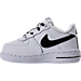 Left view of Boys' Toddler Nike NBA Force 1 LV8 Casual Shoes in White/Black