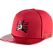 Front view of Unisex Air Jordan Retro 11 Snapback Hat in Gym Red/Black