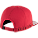 Back view of Unisex Air Jordan Retro 11 Snapback Hat in Gym Red/Black