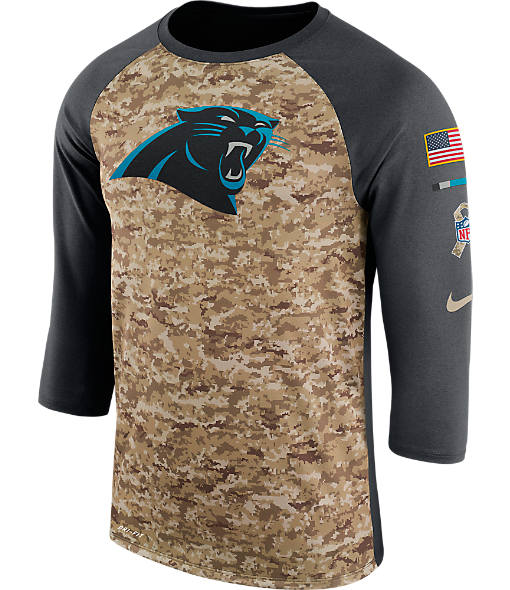 Men's Nike Carolina Panthers NFL Salute to Service Raglan T-Shirt
