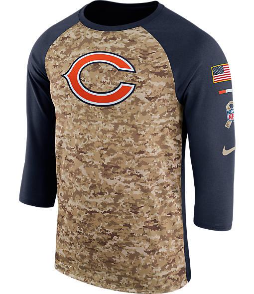 Men's Nike Chicago Bears NFL Salute to Service Raglan T-Shirt