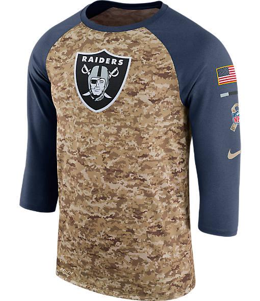 Men's Nike Oaland Raiders NFL Salute to Service Raglan T-Shirt