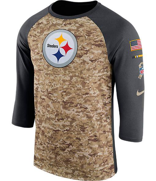 Men's Nike Pittsburgh Steelers NFL Salute to Service Raglan T-Shirt