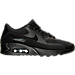 Right view of Men's Nike Air Max 90 Ultra 2.0 Casual Shoes in Black/Dark Grey/Black