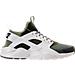 Right view of Men's Nike Air Huarache Run Ultra SE Casual Shoes in Palm Green/Sail/Legion Green