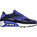 Right view of Men's Nike Air Max 90 Ultra 2.0 Flyknit Casual Shoes in College Navy/Paramount Blue/White