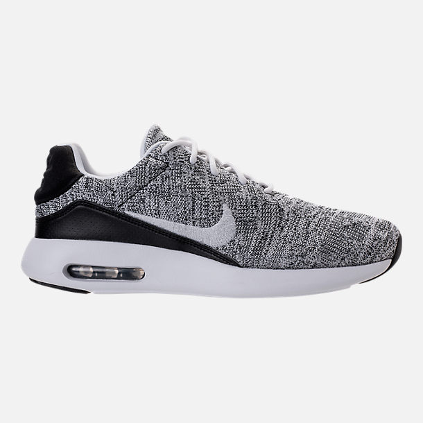 Right view of Men's Nike Air Max Modern Flyknit Running Shoes in White/White/Black