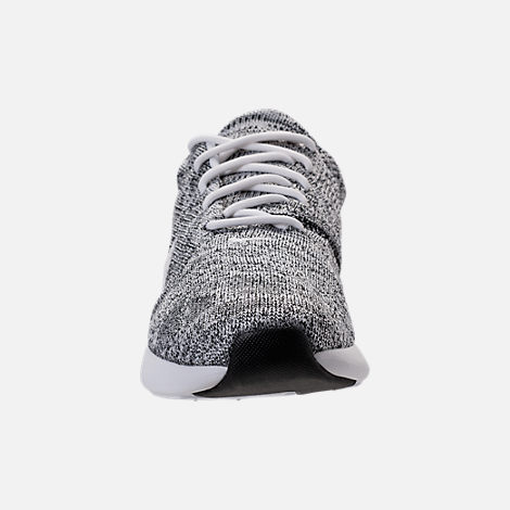 Front view of Men's Nike Air Max Modern Flyknit Running Shoes in White/White/Black