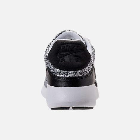 Back view of Men's Nike Air Max Modern Flyknit Running Shoes in White/White/Black