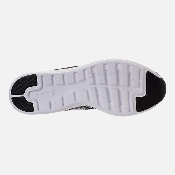 Bottom view of Men's Nike Air Max Modern Flyknit Running Shoes in White/White/Black
