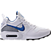 Right view of Men's Nike Air Max Prime Running Shoes in White/International Blue/Wolf Grey