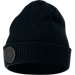 Front view of Unisex Nike Air Beanie Hat in Black/Reflect Black