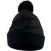 Front view of Women's Nike Sportswear Beanie Hat in Black/Anthracite/Metallic