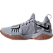 Left view of Men's Nike PG 1 Basketball Shoes in Grey/Gum/Camo