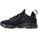 Left view of Men's Nike LeBron XIV Low Basketball Shoes in Black/Concord/White