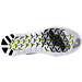 Bottom view of Women's Nike Free RN Motion Flyknit 2017 Running Shoes in Black/White/Grey/Volt