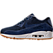 Left view of Women's Nike Air Max 90 SE Running Shoes in Binary Blue/Muslin/Sail