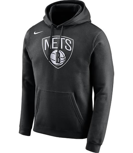 Men's Nike Brooklyn Nets NBA Club Logo Fleece Hoodie
