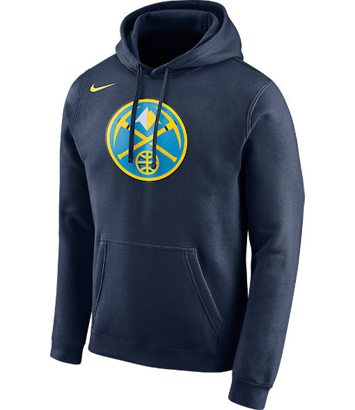 Men's Nike Denver Nuggets NBA Club Logo Fleece Hoodie