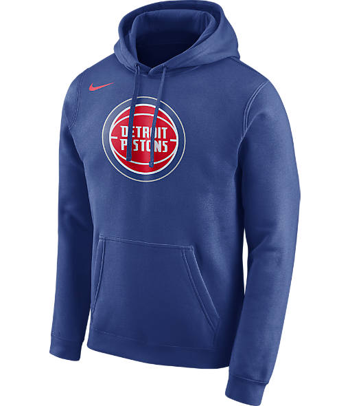 Men's Nike Detroit Pistons NBA Club Logo Fleece Hoodie