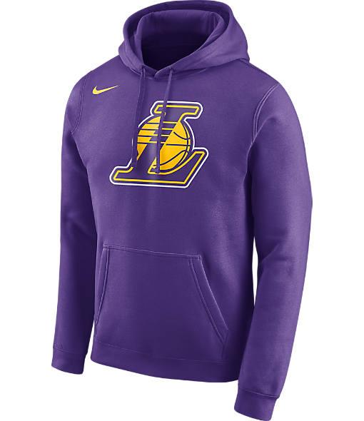 Men's Nike Los Angeles Lakers NBA Club Logo Fleece Hoodie