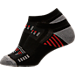 Alternate view of Youth Sof Sole Low Perforated Stripe Socks in Black/Charcoal/White/Red