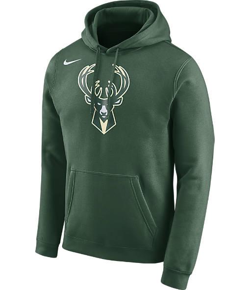 Men's Nike Milwaukee Bucks NBA Club Logo Fleece Hoodie