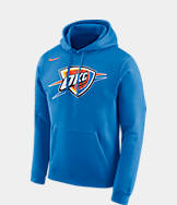 Men's Nike Oklahoma City Thunder NBA Club Logo Fleece Hoodie