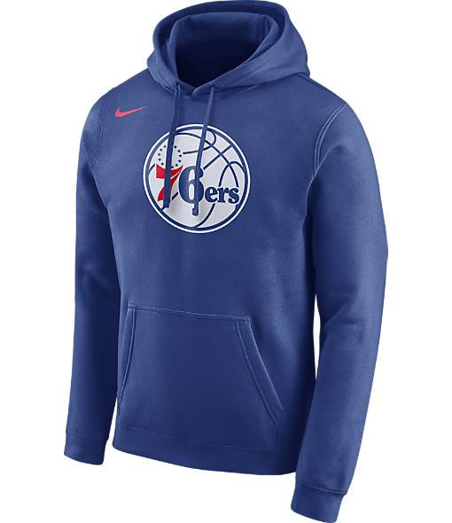 Men's Nike Philadelphia 76ers NBA Club Logo Fleece Hoodie