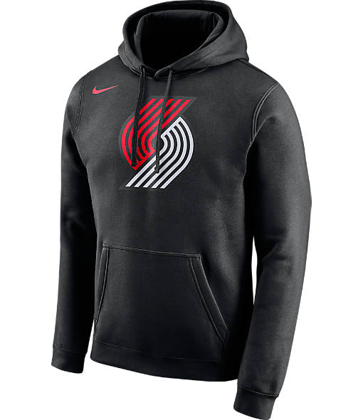 Men's Nike Portland Trail Blazers NBA Club Logo Fleece Hoodie