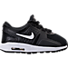 Right view of Boys' Toddler Nike Air Max Zero Essential Casual Running Shoes in Black/White/Dark Grey