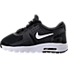 Left view of Boys' Toddler Nike Air Max Zero Essential Casual Running Shoes in Black/White/Dark Grey