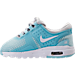 Left view of Girls' Toddler Nike Air Max Zero Essential Casual Running Shoes in Pure Platinum/White/Still Blue