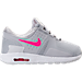 Right view of Girls' Toddler Nike Air Max Zero Essential Casual Running Shoes in Wolf Grey/Racer Pink/White
